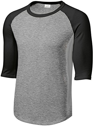 Joes USA Mens or Youth 3/4 Sleeve 100% Cotton Baseball Tee Shirts-Youth XS to Adult 6X