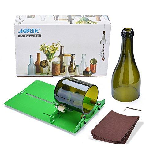 AGPTEK Glass Bottle Cutter Machine, AGPtek Long Glass Wine Bottle Cutter...