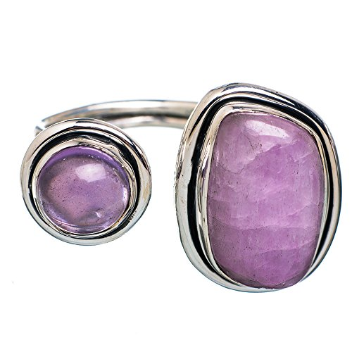 Kunzite, Amethyst Ring Size 8 Adjustable (925 Sterling Silver) - Handmade Jewelry RING874830 (Amethyst Kunzite Ring)