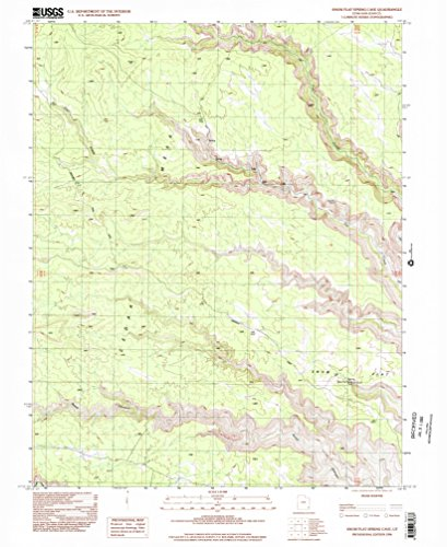 YellowMaps Snow Flat Spring Cave UT topo map, 1:24000 Scale, 7.5 X 7.5 Minute, Historical, 1996, Updated 2002, 26.9 x 22 in - Tyvek