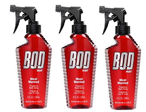 Bod Man – Mens Body Spray – Most Wanted -Pack of 3