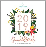 2019 Christian Calendar, Hand-Lettered with Floral Illustrations, Bible Verse/Planner / Wall Calendar (12 x 12 inch)