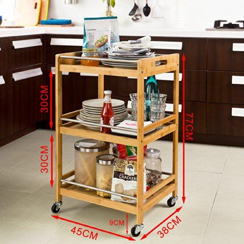 Sobuy carrito de cocina estanter a de cocina estanter a for Carrito de cocina con ruedas