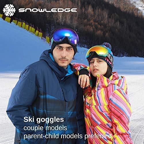 c33e70913f6c Snowledge Ski Goggles Men - Frameless OTG Snow Goggles Adult ...