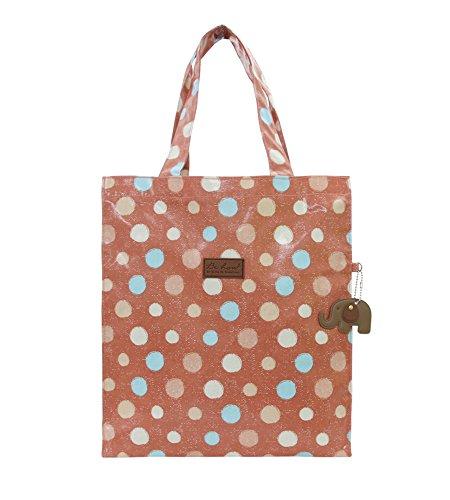 Large zipped shopping / Tote bag Rose Pink