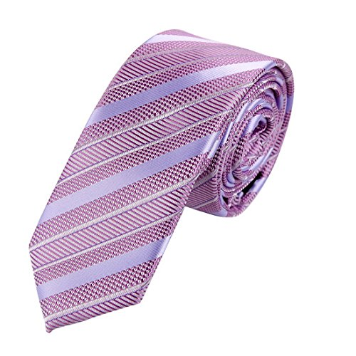 EAE1A33 Multicolored Silk Mens Striped Skinny Tie Designer Gifts Idea By Epoint