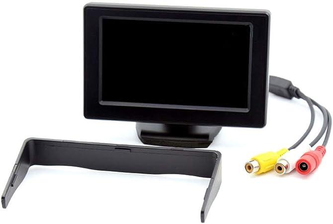 Cam/éra de recul /écran 4,3 Pouces Micro cam/éra Noir 4 LEDs Infrarouge Beeper ISIVU
