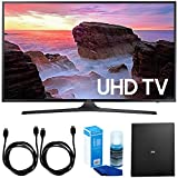 Samsung UN55MU6300 55'' 4K Ultra HD Smart LED TV + Cut the Cord Wireless Tuner Bundle includes TV, Terk Indoor Flat 4K HDTV Multi-Directional Antenna, 6ft High Speed HDMI Cable x 2 and Universal Screen