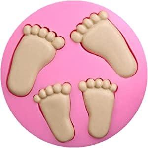SaSa Design Feet Mold,Soap Clay Fimo Chocolate Sugarcraft Baking Tool DIY Mold for Baby Shower Birthday Party Cake Decoration