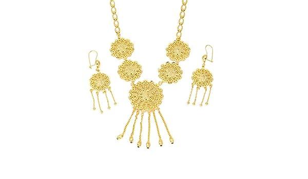 Disfraz de africana de joyas dorado boda novia diseño de flores de ...