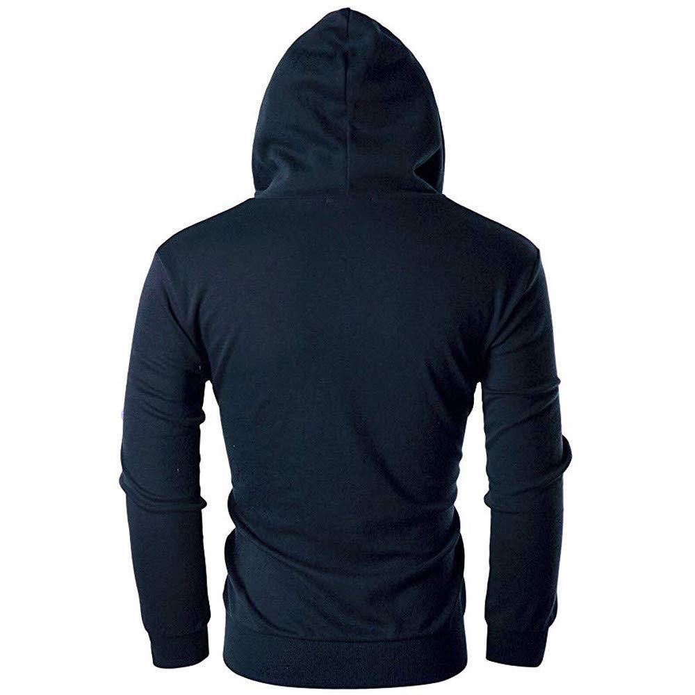 Mens Casual Slim Fit Coat Beautyfine Long Sleeve Zipper Hoodie with Pocket Outwear Blouse