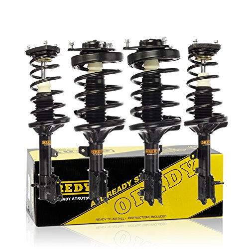 (OREDY Front & Rear Full Set of 4 Complete Shock Strut Coil Springs Assembly Kit Compatible with 2003 2004 2005 2006 2007 2008 Tiburon FWD)