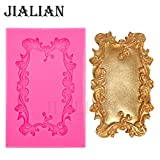 Star-Trade-Inc - Mirror/picture frame modelling 3D Silicone Molds Cake Decoration Fondant tools chocolate sugar art displays T0546