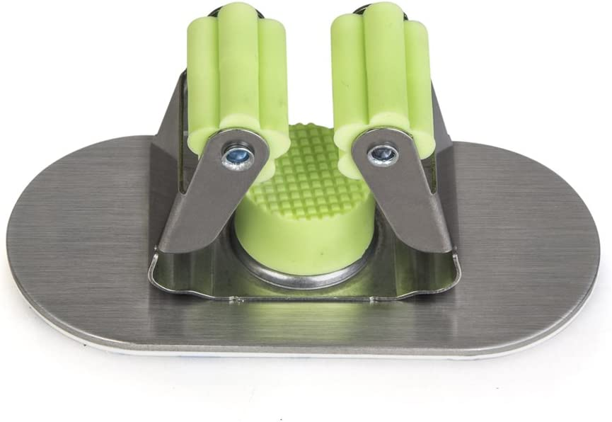 Yizhet 2x Edelstahl Besenhalter Werkzeughalter Ger/ätehalter Mop und Besen Halter Organizer 3M selbstklebend und Doppel-Schrauben