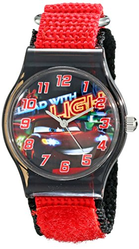 Disney Kids' W001711 Cars Analog Red Watch