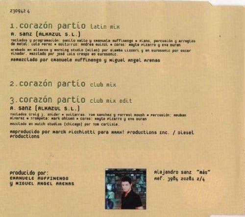 PARTIO ALEJANDRO SANZ CORAZON BAIXAR MUSICA