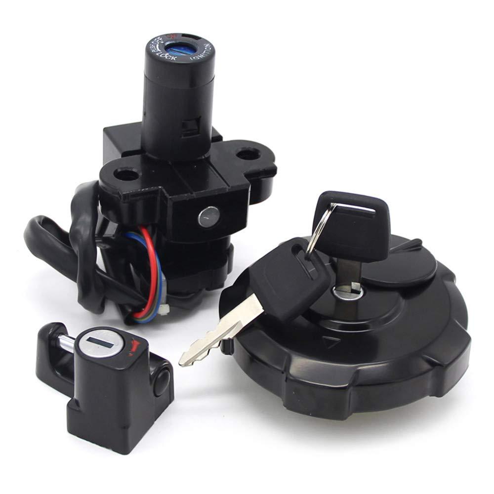 Motorcycle Ignition Switch Lock Key Fuel Gas Cap Key Set for Honda XR650 XR650L 35010-MY6-L40