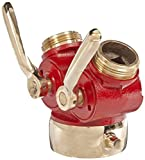 Dixon S6175 Cast Brass 1/4'' Turn Plug Type Wye Valve, 2-1/2'' NST Female x 1-1/2'' NST Male, 175 psi Pressure
