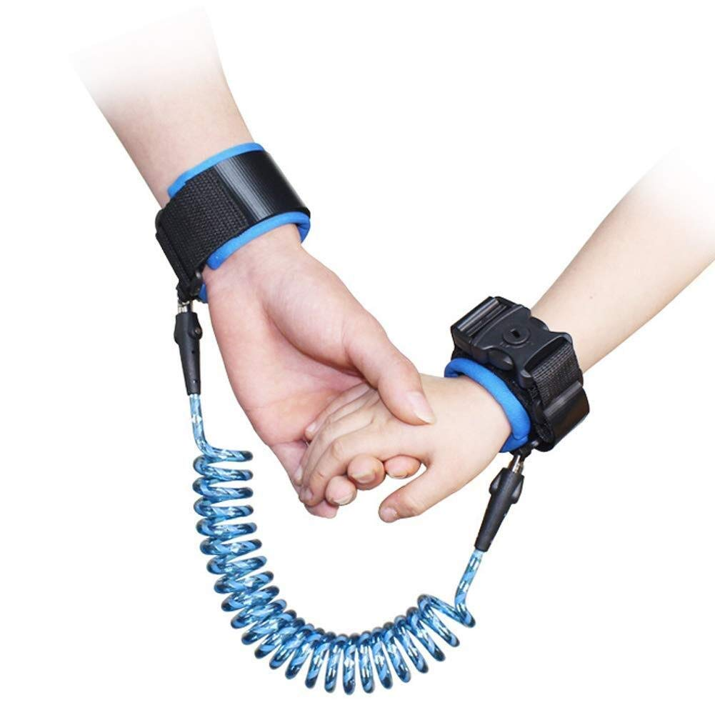 Anti-Lost Traction Rope-Anti-Lost Wrist Strap Traction Rope (Color : Blue, Size : 2.5m)