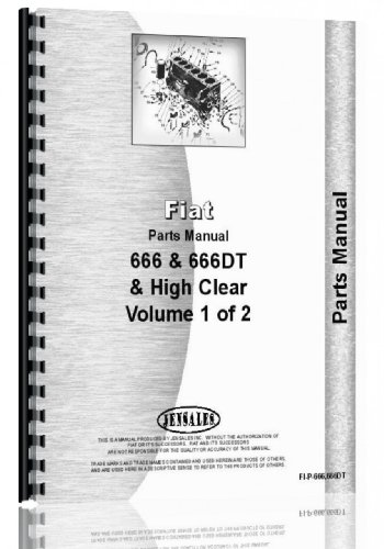 Hesston Tractor Parts Manual (FI-P-666,666DT) (Catalog Parts Dt Tractor)