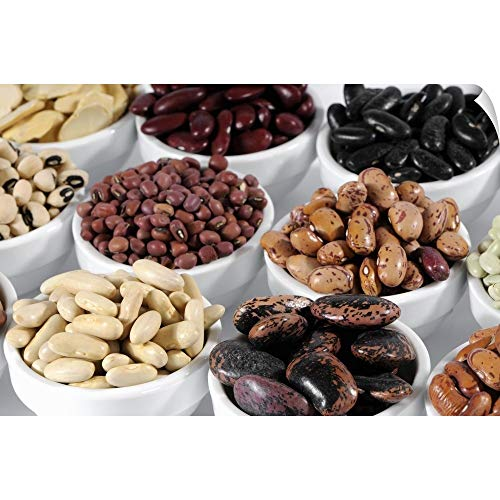 CANVAS ON DEMAND Wall Peel Wall Art Print Entitled Various Types of Beans in Bowls ()