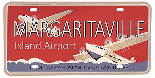 BrotherhoodProducts Margaritaville Island Airport Aluminum License Plate
