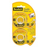 Scotch Double Sided Tape, 12.7mm x 10.1m, 2 Rolls, (137DM-2)