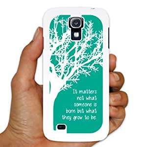 "Samsung Galaxy S4 White Slim Case - Dumbledore Quote ""It matters..."""