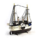 GL&G manual Retro Iron art 19th century Ship model Home bar Cafe Decoration metal Crafts Tabletop Scenes Ornaments Collectible Vehicles High-end gift,392915cm