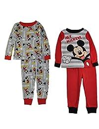 Disney Baby Boys' Mickey Mouse 4-Piece Cotton Pajama Set