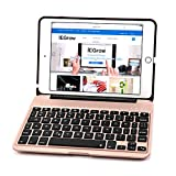 iPad Mini 4 Keyboard Case, iEGrow F04 7-color Backlit Slim Aluminum Bluetooth Keyboard with Protective Clamshell Case Cover for iPad Mini 4(Rose Gold)
