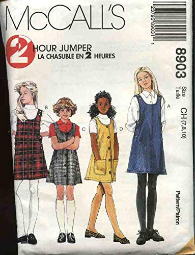 Mccall's 8903 Girl's 2 Hour Jumper Size CH (7-8-10)