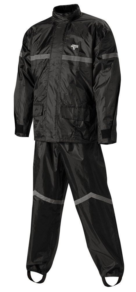 Nelson-Rigg Stormrider Rain Suit (Black/Orange, X-Large)