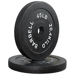 Pair 45 lb. Cast Iron Olympic Plates