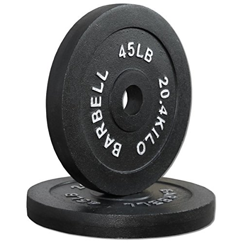 Compact 45 lb. Cast Iron Olympic Plates (Pair) by Ader Sports