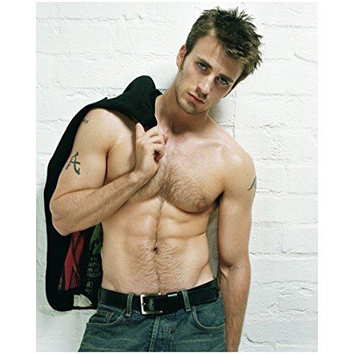 chris-evans-8x10-photo-captain-america-casual-shirtless-jeans-upper-body-front-head-tilt-wlo