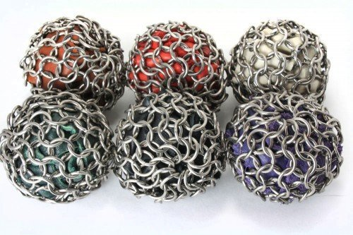 UPC 033586610585, Tangled Metal Stainless Steel Hacky Sack Leather And Chainmail - BROWN (Footbag)
