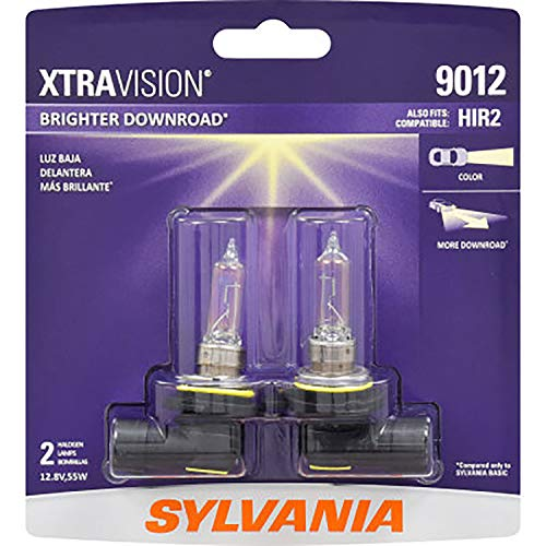 SYLVANIA - 9012 XtraVision - High Performance Halogen Headlight Bulb, High Beam, Low Beam and Fog Replacement Bulb (Contains 2 Bulbs) ()