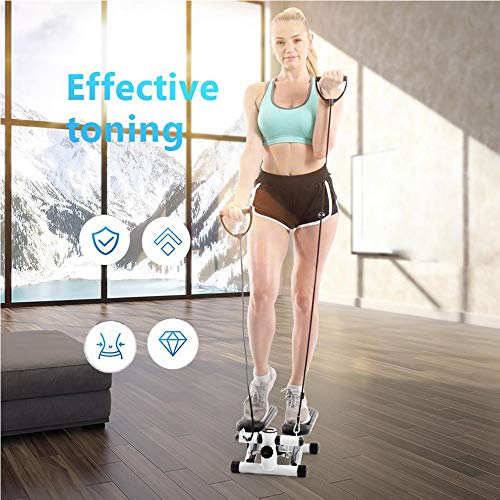 Mini Stepper Calories - Multi-Function Stepper,salaheiyodd 【Ship from USA】Household Mini Stepper Stair Stepper Exercise Equipment Indoor Sports Stepper with Resistance Bands and Twisting Action