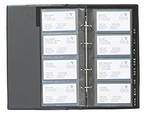 Amazon goldline de luxe business card binder pvc a z index 64 goldline de luxe business card binder pvc a z index 64 pockets 272x150mm blue and black ref dbcb4 blu colourmoves