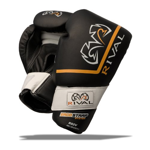 RIVAL BOXING GLOVES-RS2V (BLACK, 16oz)