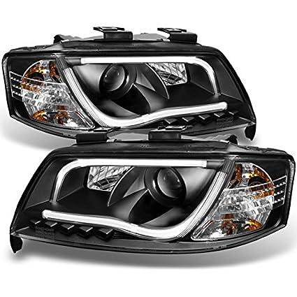 Amazoncom For Audi A6 C5 Sport Sedan Black Bezel Drl Daytime Led