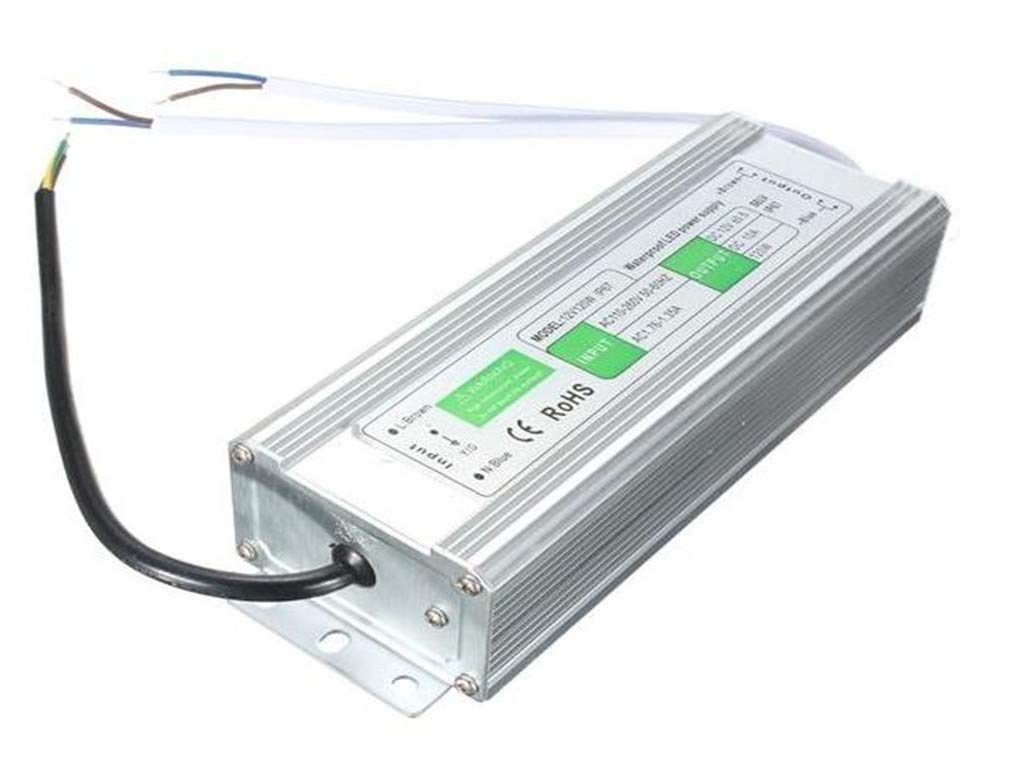 LYEJM 120W Waterproof IP67 LED Transformer Power Supply Driver AC110V-260V To DC12V LYEJM (Size : 182mmx70mmx42mm)