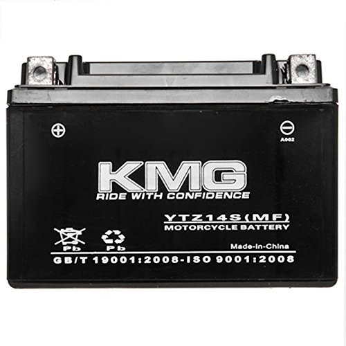 KMG YTZ14S Sealed Maintenace Free Battery High Performance 12V SMF OEM Replacement Maintenance Free Powersport Motorcycle ATV Scooter