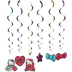 Foil Swirl Decorations | Hello Kitty Rainbow Collection | Party Accessory