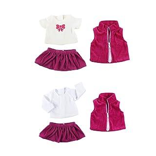 MagiDeal 2 Set Gonna Camicia Shirt Skirt Miniature Abbigliamenti Indumenti Tuta Costumo Regalo Per Bambola