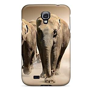 New Cute Funny Elephants Dust Case Cover/ Galaxy S4 Case Cover