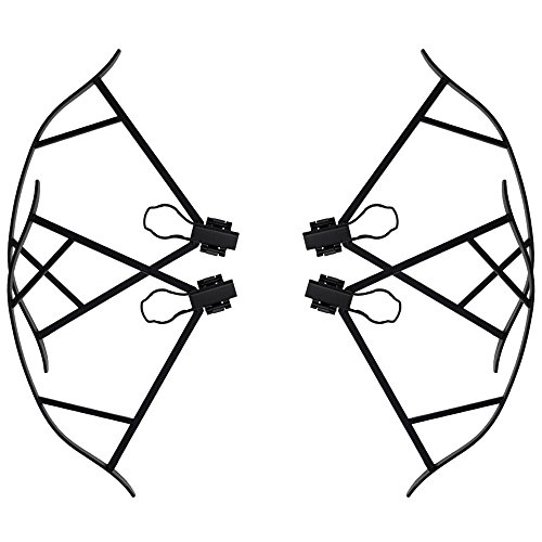 Mavic PRO & PLATINUM Quick Clip Propeller Guards Only Prop Guards That Works with Mavic Obstacle Avoidance Sensors Carbon Fiber Protection Works Drone Quadcopter VPS FREE (Mavic Carbone)