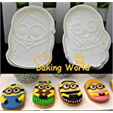 Anyana Minions Fondant Mould Cake Decorating Tools Plunger Cookie Cutter Despicable Me
