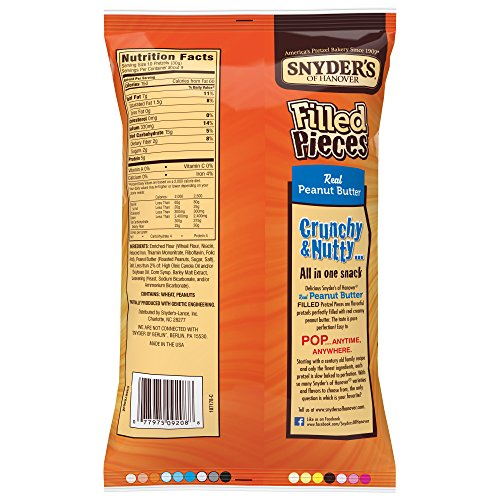 Snyder's of Hanover Pretzels Pieces, Peanut Butter Filled, 10 Ounce Bag